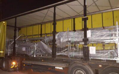 1e vracht uit een reeks geladen in Turkije naar Nederland